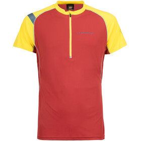 La Sportiva Advance - T-shirt course à pied Homme - jaune/rouge